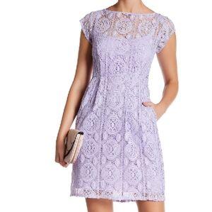 Nanette lepore crochet construction ladies dress